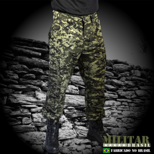 Calça Militar Brasil 1982 - Camo Digital Tiger Jungle