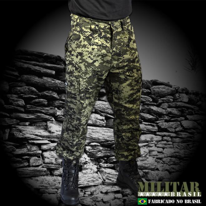 Calça Militar Brasil 1982 - Camo Digital Tiger Jungle