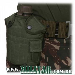 Porta Cantil Militar Mod US - Verde - não acompanha o cantil