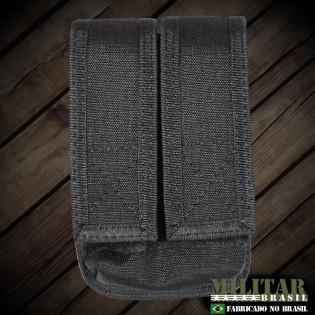 Porta Carregador Pistola Duplo K-12 - Preto