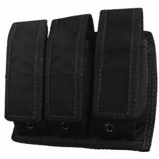 Porta Carregador Pistola Triplo Molle - Preto