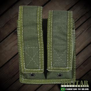 Porta Carregador Pistola Duplo Molle - Verde