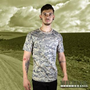 Camiseta Militar Manga Curta - Camo Digital Urban Desert