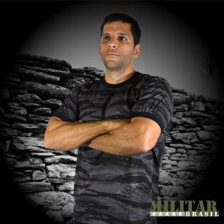 Camiseta Militar Manga Curta - Camo Dark Urban