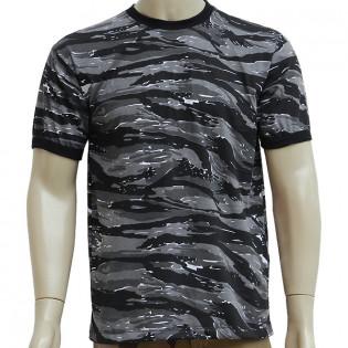 Camiseta Militar Manga Curta - Camo Urban Tiger
