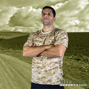 Camiseta Militar Manga Curta - Camo Marpat Desert
