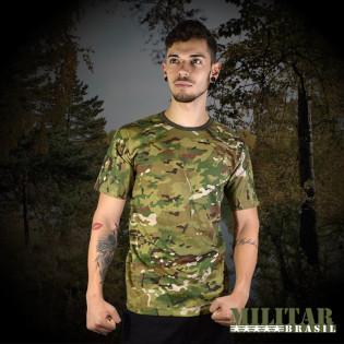 Camiseta Militar Manga Curta - Camo Multicam