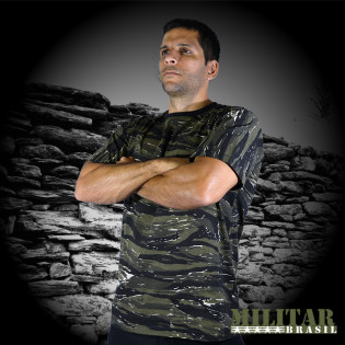 Camiseta Militar Manga Curta - Camo Ground Tiger