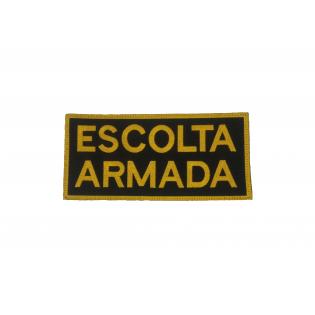 Bordado Escolta Armada Amarelo c/ Velkro - para colete Tático