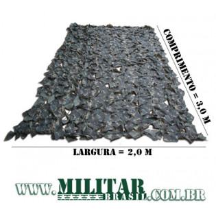 Rede de Camuflagem - 2m x 3m - Camo Exército