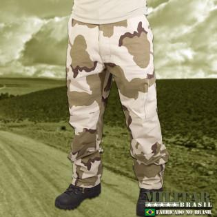 Calça Militar Brasil 1982 - Camo Desert Tricolor