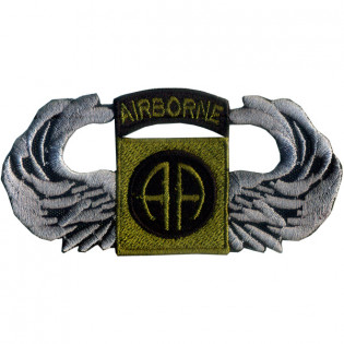 Bordado Airborne (AA) Verde c/ Asa Cinza