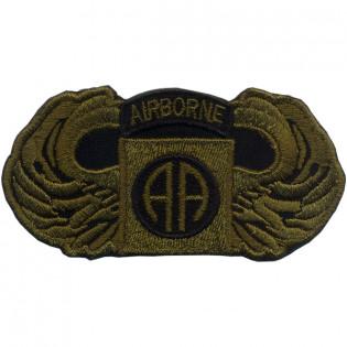Bordado Airborne (AA) Preto c/ Asa Verde