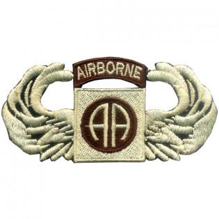 Bordado Airborne (AA) Marrom c/ Asa Bege