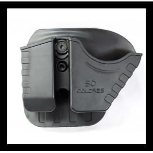 Porta Carregador c/ porta algema polímero com 2 passadores