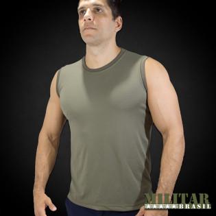 Camiseta Regata em Dryfit Verde