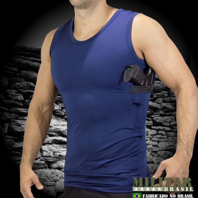 Camiseta Coldre Suflex Azul Marinho