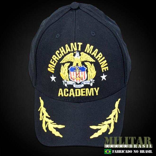 Boné Merchant Marine Academy - Militar Brasil - artigos militares ... 5571a76c105