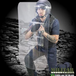 Escudo em Polímero Anti-Tumulto