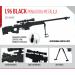 Miniatura Arma L96 Black Metálica - 30cm
