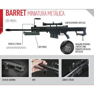 Miniatura Arma M82A1 com Trilho 36 cm