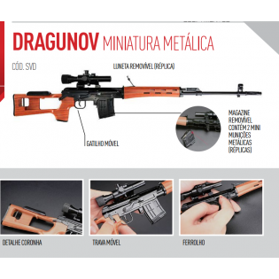 Miniatura Dragunov Metálica - 40cm