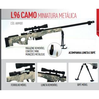 Miniatura L96 Camo Metálica - 30cm