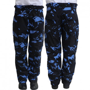 Calça Operacional Guarda Civil Municipal - Camo Woodland Azul