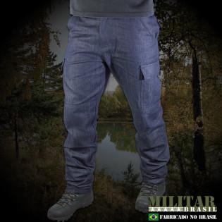 Calça MB Tática 6 Bolsos Jeans