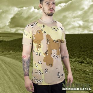 Camiseta Militar Manga Curta Camo Desert Storm