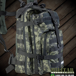 Mochila Militar Brasil Assault 30 Litros - Camo Digital Tiger Jungle