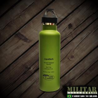 Garrafa Termica LIQUIDSAFE 600ml Inox verde