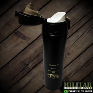 Garrafa Termica Mug LIQUIDSAFE 430ml tampa basculante preto
