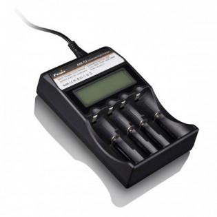 Carregador Fenix, para até 4 baterias, compatível com modelos: 14500, 18650, RCR123A, AA, AAA,