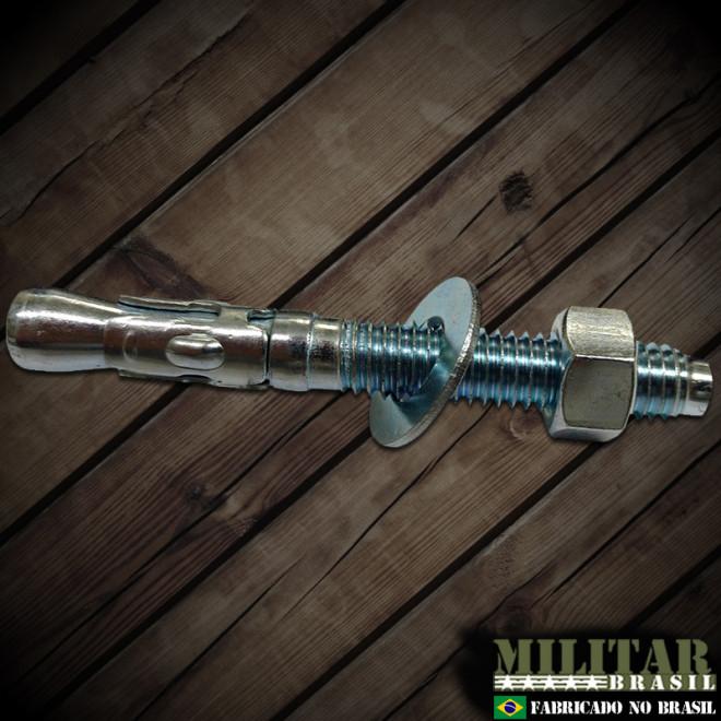 Chumbador 9,5mm x 76mm em aço zincado
