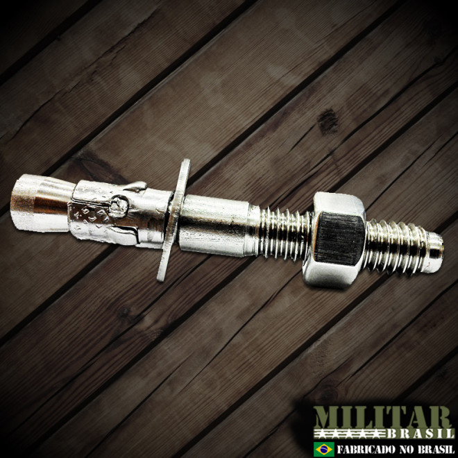 Chumbador 9,5mm x 76mm em aço inox