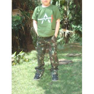 Calça Infantil Rip Stop - Camo Exército
