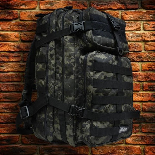 Mochila Militar Brasil Assault 50 Litros - Camo Digital Tiger Jungle