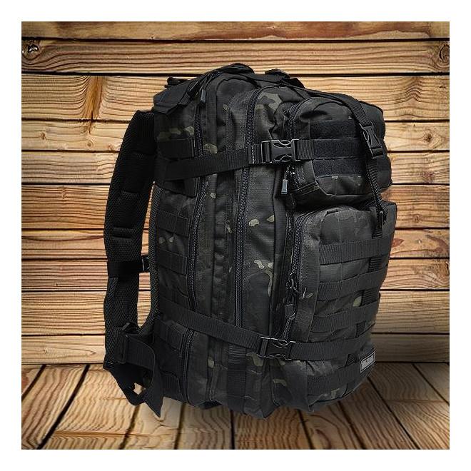 Mochila Militar Brasil Assault 50l - Camo Multicam Black