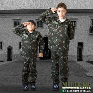 Farda Infantil Camo Exército Brasileiro