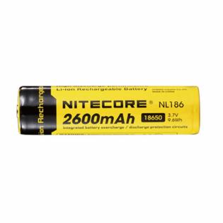Bateria Nitecore 18650 de lítio com 2600 mAh