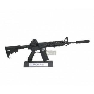 Miniatura M4-A1 RIS Metálica - 30cm