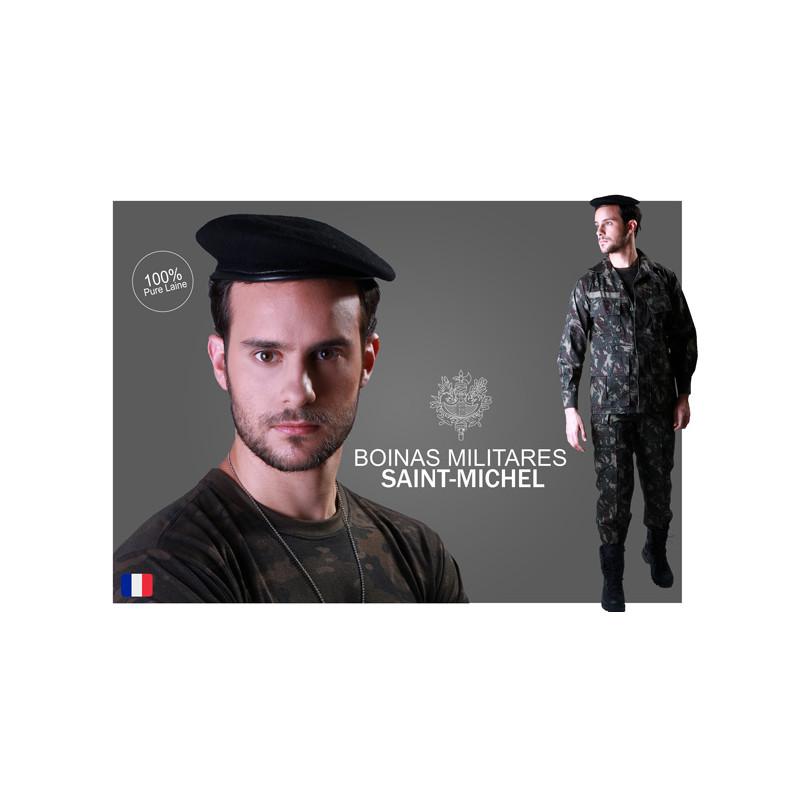 Boina Francesa Saint-Michel 100% Lã - Preta - Militar Brasil ... 90d692afce7