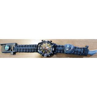 Relogio Bracelete Paracord - Preto