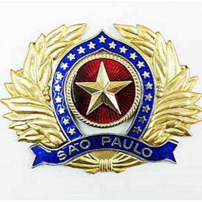 Distintivo de Boina Oficial PMSP - Militar Brasil - artigos ... 28ad59d3271