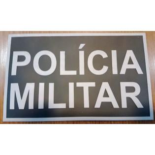 Distintivo Emborrachado Policia Militar - Preto e Cinza