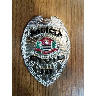 Distintivo Policia Civil SSP - Prata